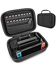$25 » Carrying Storage Case for Nintendo Switch, LP Portable Travel Case Protective Hard Shell Bag with Separate Storage Space for Switch Console, Pro Controller, Switch Dock, AC Adapter Cable & Accessories