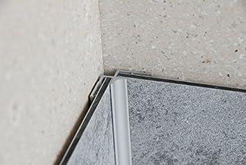 Eck Duschr/ückwandset bestehend aus 2 Segmenten aus Aluverbund und Dekor Meerblick 210cm x 100cm x 3mm 1 Inneneck- und 2 Abschlussprofile Montageklebeband und Silikon