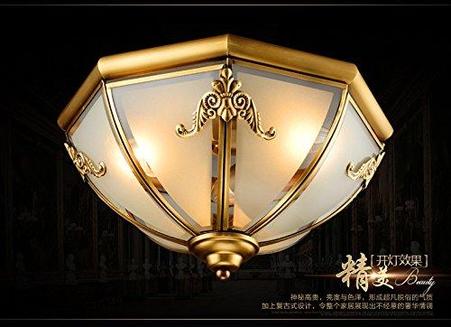 Neo classico hotel lusso modello solido ottone lampada da soffitto