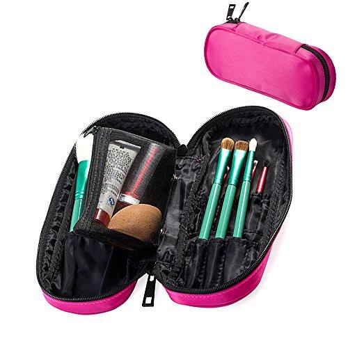 Travelmall Multifunctional Cosmetic Makeup Bag Makeup brush Organizer Holder Cosmetic bag Organizer Travel portable 12 pockets Cosmetics Brushes bag