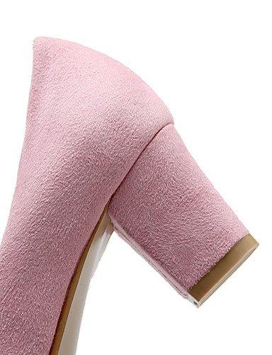 GGX/Damen Schuhe Fleece Sommer/spitz Toe Heels Office & Karriere/Casual geschoben Ferse andere schwarz/pink/lila/ purple-us5 / eu35 / uk3 / cn34