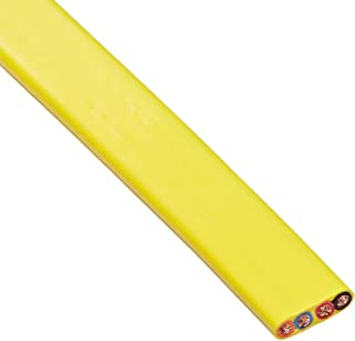 product image for KH Industries FTCB-10/4-70 Flat Festoon Cable, PVC Jacket, 4 Conductor, 10 AWG, 70' Length, Yellow