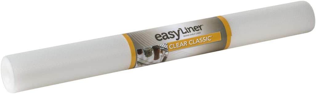 Duck Brand Clear Classic Easy 286231 Non-Adhesive Shelf Liner, 24-inch W x 10-Foot Roll