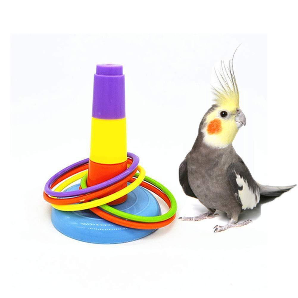 Inteligencia del p/ájaro del Juguete del Loro por Budgie Parakeet Cockatiel Conure Lovebird Cockatoo  Jaula Juguete Juguete de los Anillos