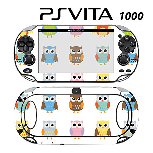 Skin Decal Cover Sticker for Sony PlayStation PS Vita (PCH-1000) - Cute Owl Pattern -  Decals Plus