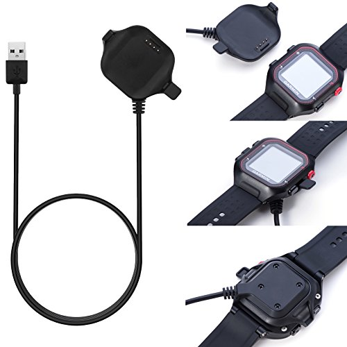 For Garmin Forerunner 25 Charger Charging Clip Size Large Replacement USB Charger Adapter Charge Cord Charging Cable Clip For Garmin Forerunner 25 GPS Running Watch Large for men