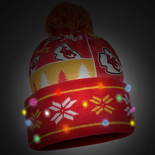 0d006581 Kansas City Chiefs Light Up Beanie – Football Theme Hats