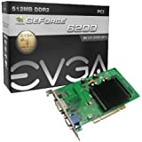 EVGA GeForce 6200 512 MB DDR2 PCI 2.1 VGA/DVI-I/S-Video Graphics Card, 512-P1-N402-LR