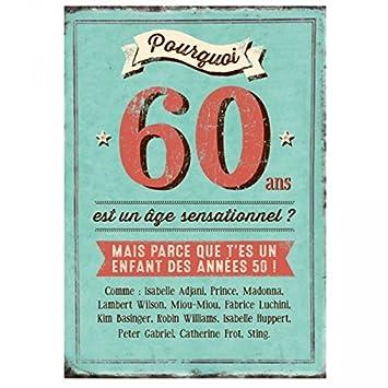 Carte Xl Danniversaire 60 Ans Cadeau Maestro Amazonfr Cuisine