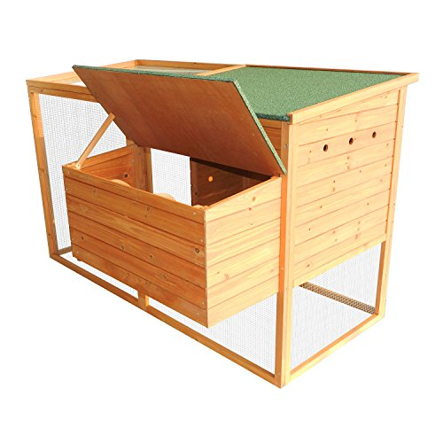 Pawhut 64'' Chicken Coop Hen House w/ Nesting Box and Outdoor Run by PawHut (Image #6)