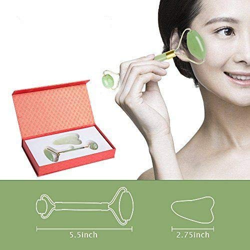 Real Jade Roller and Gua Sha sets 100% Natural for Face and Neck