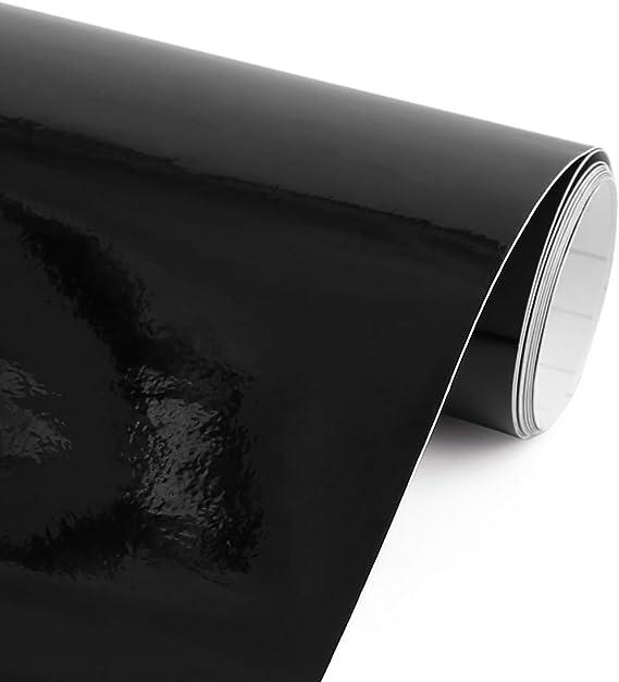 sourcing map 152cm X 60cm Negro Brillante Autoadhesiva Película de Vinilo de Carrocería de Coche: Amazon.es: Coche y moto