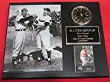 Stan Musial Bob Feller All Stars Collectors Clock Plaque w/8x10 Photo and Card