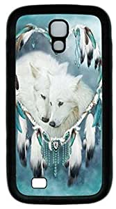 Samsung Galaxy S4 I9500 Case and Cover Wolf Heart TPU Silicone Rubber Case Cover for Samsung Galaxy S4 I9500 Black
