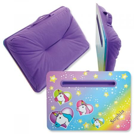 Personalized Unicorn Lap Desk -Ê12 H x17 W Tablet Holder, Travel - Personalized Lap Desk