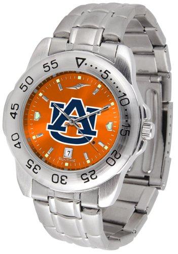 Linkswalker Mens Auburn Tigers Sport Steel Anochrome Watch