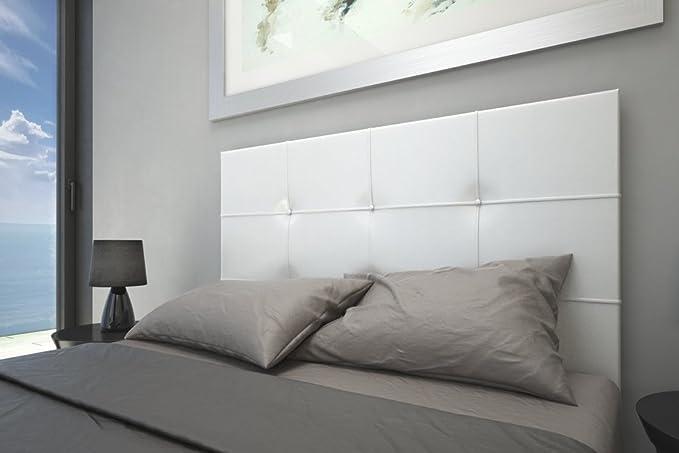 HOGAR24 ES Cabecero Tapizado Versus, Color Blanco, 155x60: Amazon.es: Hogar