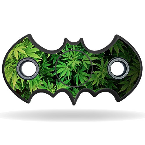 MightySkins Vinyl Decal Skin For Bat Shaped Fidget Spinner – Weed | Protective Sticker Wrap For Your Fidget toy | Easy To Apply Cover at Gotham City Store