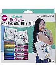 Tulip Llama Love Marker & Tote Kit, Multi