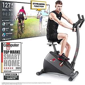 Sportstech Ergomètre vélo d'appartement ESX500 de Marque Allemande de qualité – Vidéo Events & Multijoueur APP + écran 5…