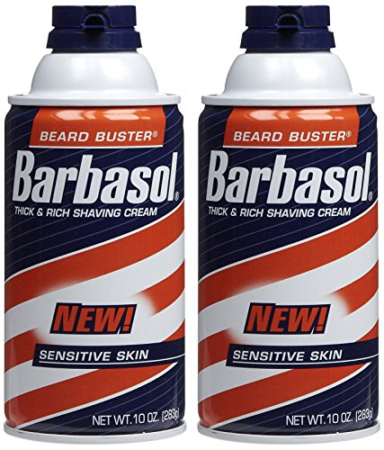 Barbasol Shave Cream, Sensitive Skin - 10 oz - 2 pk