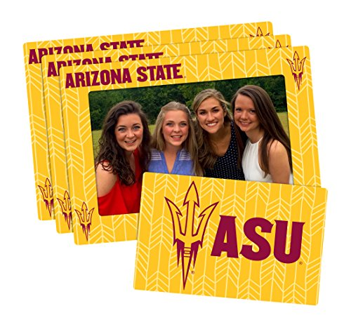 (Worthy Promo NCAA Arizona State Sun Devils 4-inch by 6-inch Magnetic Frame Plus Bonus Magnet, Yellow, 3 Pack)