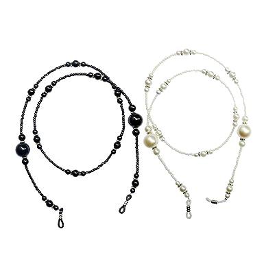 Lumanuby Lunettes de 70cm de long Chaîne Mode Perles de cristal Lunettes Lunettes de soleil Chaîne Haut de gamme Lunettes Chaîne 6yosBKC