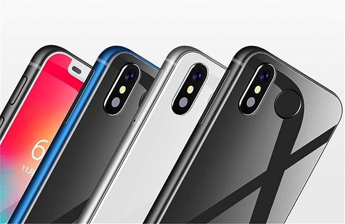 Melrose 2019 4G LTE El teléfono Android más pequeño 3.4 MTK6739 Quad Core Android 8.1 ID de Huella Digital 2000 mah Mini Pequeño teléfono Inteligente (Huella Azul, Melrose2019 Standard): Amazon.es: Electrónica
