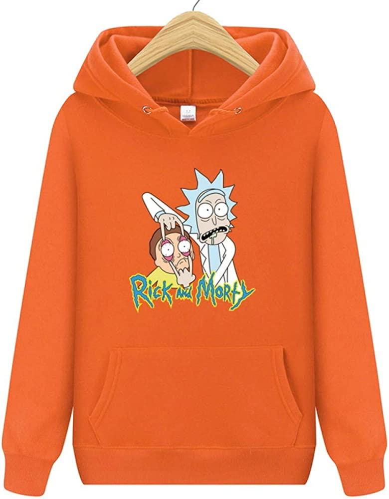 HOSD 2019 New Rick Morty Hooded Men Women Hoodies Sweatshirt Men Skateboards Male Cotton Hooded Sweatshirt