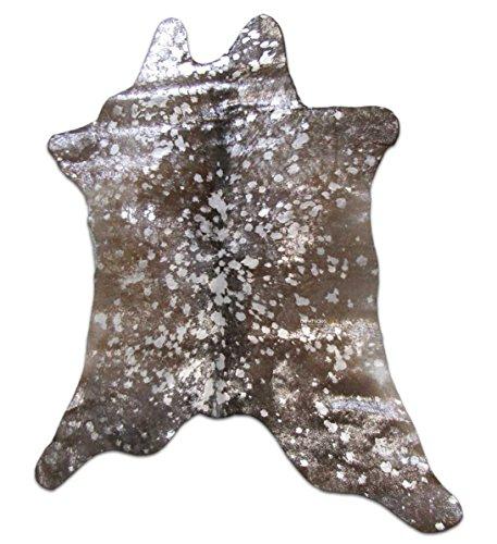 Calfskin Metallic Leather (Silver Metallic Calf Skin Rugs Size: ~35