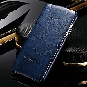 "50 pcs/lot Vintage Flip PU Leather Case for iPhone 6 6G 4.7"" Phone Bag Stylish Brown Black with fashion logo Wholesale DHL --- Color:random colors"