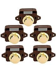 Lenere 5 stuks Keyless drukknopsluiting deurknop slot voor RV Caravan Cabinet Boot Motor Huis Kast, Goud