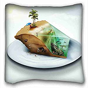 Custom Characteristic Nature Custom Cotton & Polyester Soft Rectangle Pillow Case Cover 16x16 inches (One Side) suitable for California King-bed