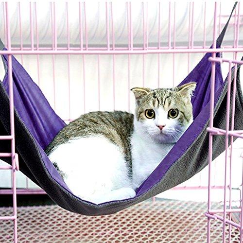 Cama colgante de gato, Descanso Asiento, Morado Impermeable Oxford Tela Cat Hamaca Balcón Pet Colchón Colchón