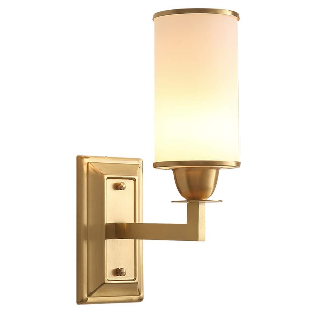 壁面ライト, アメリカンシンプル銅ウォールランプ寝室のベッドサイドランプリビングルームの壁ランプ階段通路クリエイティブウォールランプ AI LI WEI B07S3NJCY2