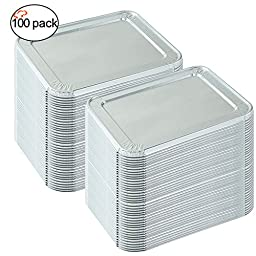 TigerChef TC-20488 Aluminum Foil Lids for Half Size Steam Table Pans with Recipe Card, 9\