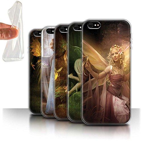 Officiel Elena Dudina Coque / Etui Gel TPU pour Apple iPhone 6S+/Plus / Pack 10pcs Design / Fées Élégantes Collection