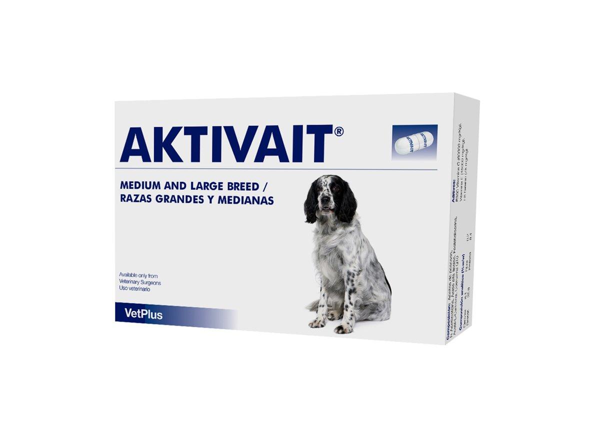 Aktivait Capsules for Medium/Large Dogs (Pack of 60) VetPlus 5031812501077 vetuk_238_1_101