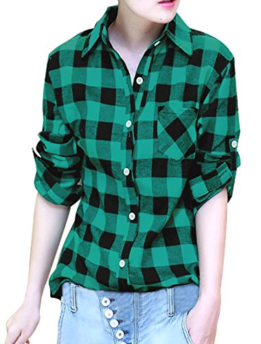 Allegra Sleeves Buttoned Boyfriend Plaids product image