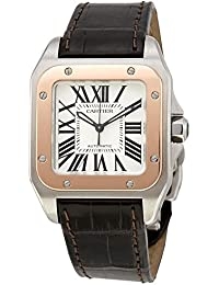 men s certified pre owned watches cartier santos 100 automatic self wind mens watch w20107x7 certified pre owned