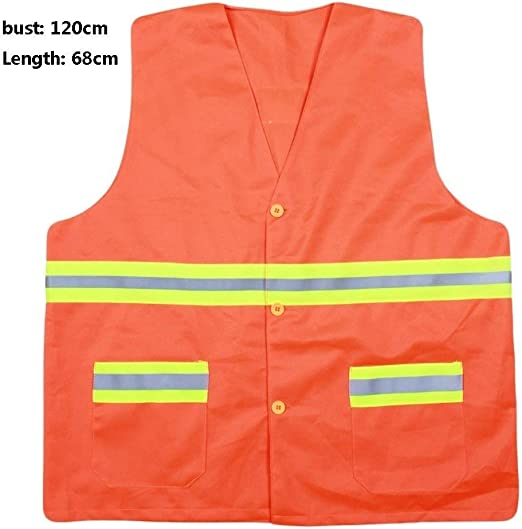 CHUNYU Zipper safety vestHigh Visibility Vest Safety Vest