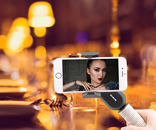 Wewow Fancy Portable Smartphone Gimbal stabilizer with Supplementary Light and Handle (Black) by Wewow (Image #8)