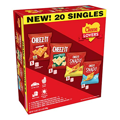 Cheez-It, Baked Snack Cheese Crackers, Variety Pack, 17.6oz Box (Pack of 3) -