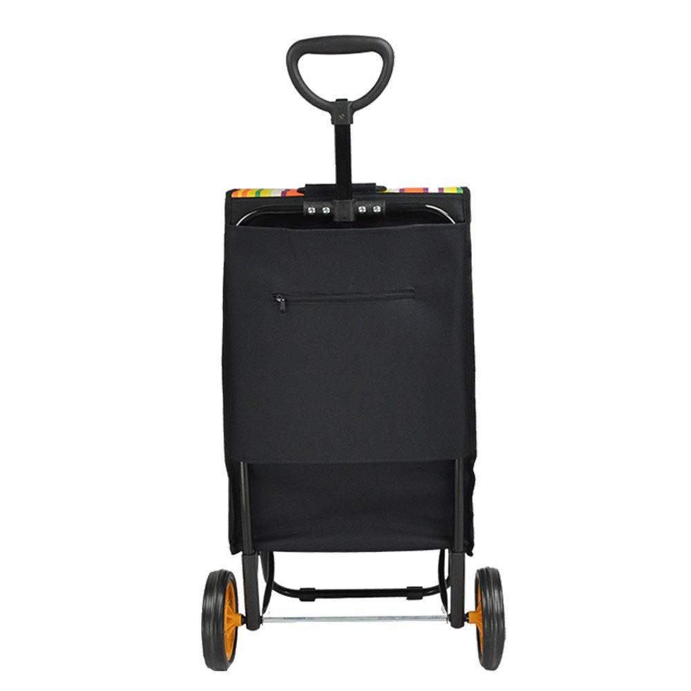 b8bfe8d5bd23 Amazon.com: ZSLLO Foldable Shopping Push Wheel Light Folding Bag ...