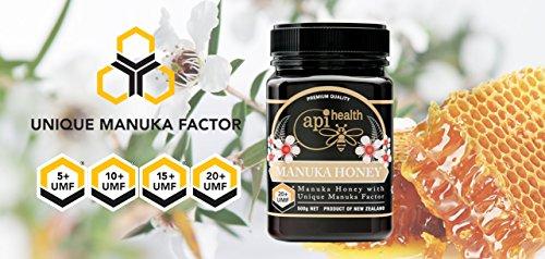Manuka Honey 500g UMF 20+ (MGO ≥ 829) Pure New Zealand Honey 1.1 lb by API Health (Image #1)