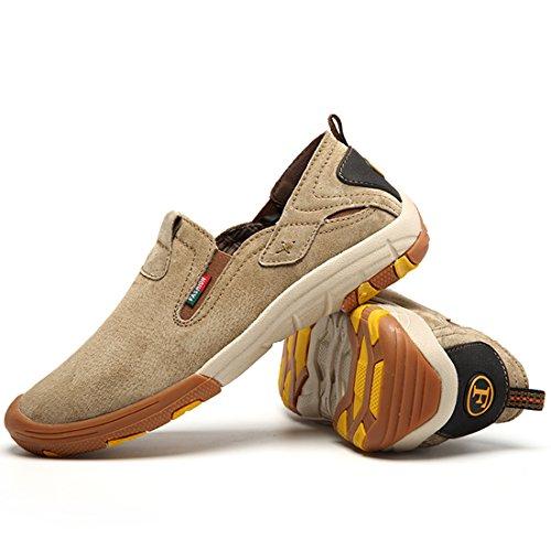 Xiafen Mens Moda Casual Allaperto Slip-on Scarpe Da Alpinismo Scarpe Kaki