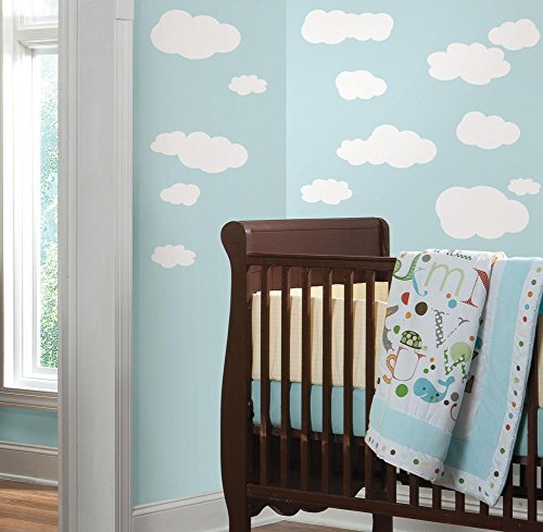 Clouds (White) Peel & Stick Wall Decals 10 x 18in