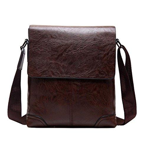 Hombres Hombro Bolso Messenger Bag Hombro Al Aire Libre Casual Deporte Bolso De Viaje Simple Brown1
