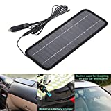 12V 4.5V Solar Car Battery Charger Portable SunPower Solar Panel Trickle Charger With Cigarette Lighter Plug, Battery Charging Clip Line For Motorcycle RV Boat Marine Snowmobile Durable
