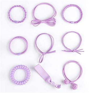 9 pcs Hair Bands Hair Ties Set phone cord Hair Ties Spiral Hair Ties Braid  Rubber f082c221708